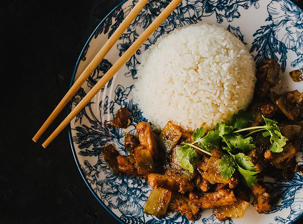 44. Caramelized Lemongrass Chicken on Rice