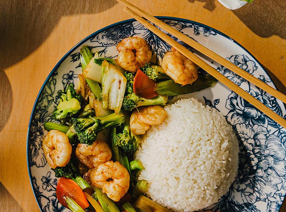 49. Mixed Vegetable Stir Fry on Rice