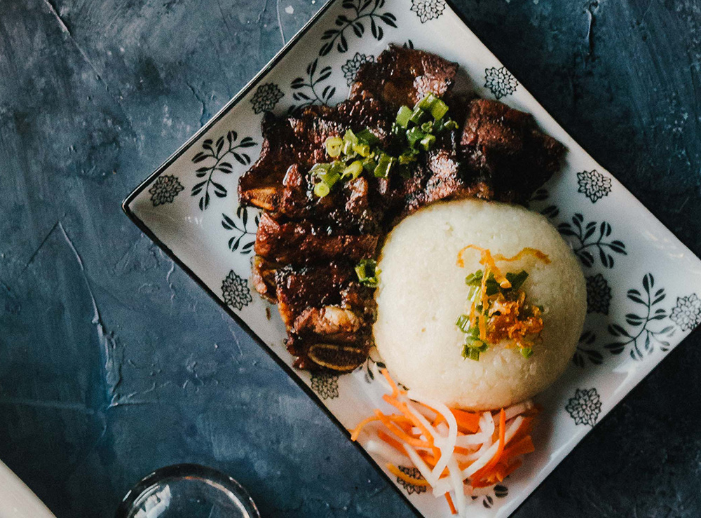 72. BBQ Beef Short Ribs on Coconut Sticky Rice